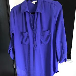 Pleione Bright Purple Tunic Shirt